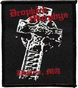 Dropkick Murphys Iron-On Patch Boston Cross Logo