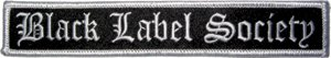 Black Label Society Iron-On Patch Letters Logo