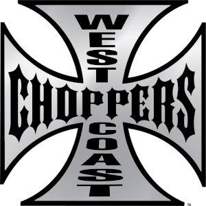 West Coast Choppers Vinyl Sticker Iron Cross