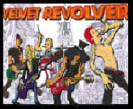 Velvet Revolver Vinyl Sticker Cartoon Logo