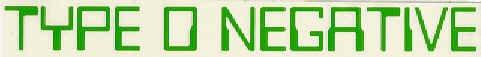 Type O Negative Vinyl Cut Sticker Green Letters Logo