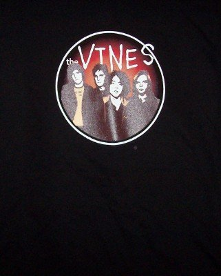 The Vines T-Shirt Circle Band Photo Black Size Small CLEARANCE