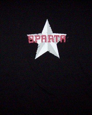 Sparta T-Shirt Star Logo Black Size XL