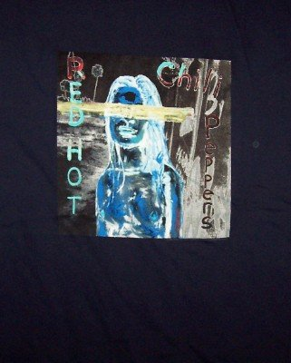Red Hot Chili Peppers T-Shirt Girl Logo Navy Blue Size XL