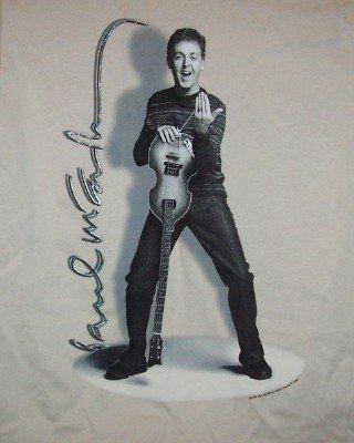 Paul McCartney T-Shirt Bass US Tour Beige Size Medium
