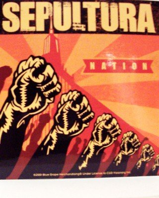 Sepultura Vinyl Sticker Nation Fists Logo