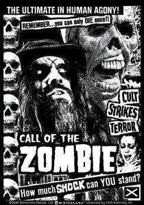 Rob Zombie Vinyl Sticker Call of the Zombie
