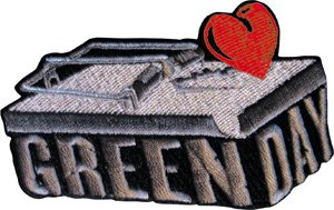 Green Day Iron-On Patch Mouse Trap