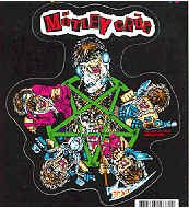 Motley Crue Vinyl Sticker Decadence