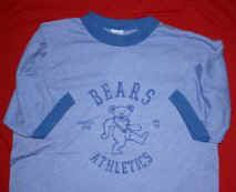 Grateful Dead Ringer T-Shirt Athletics Blue Size Medium