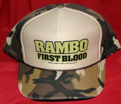 Rambo Hat First Blood Camouflage One Size Fits All