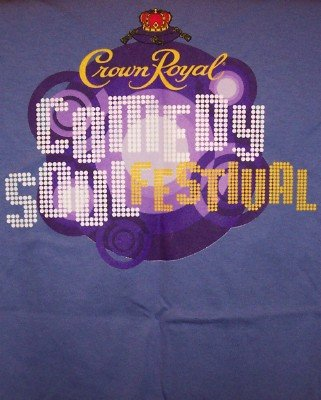 Crown Royal Comedy Soul Festival T-Shirt Blue Size Small CLEARANCE