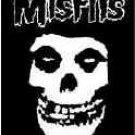 Misfits Poster Flag White Letters Fiend Skull Logo Tapestry