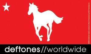 Deftones Vinyl Sticker Worldwide Pony Logo