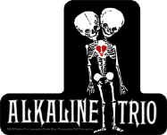 Alkaline Trio Vinyl Sticker Skeleton Logo