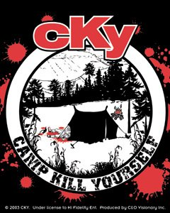CKY Vinyl Sticker Tent Logo Camp Kill Yourself