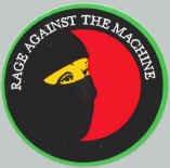 Rage Against the Machine Vinyl Sticker Mask Logo