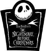 Nightmare before Christmas Vinyl Sticker Jack Logo