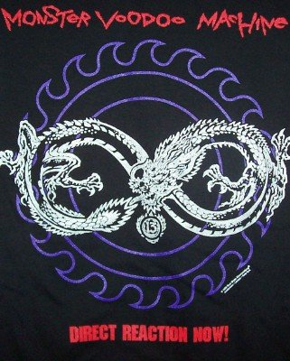 Monster Voodoo Machine T-Shirt Direct Reaction Now Black Size Large