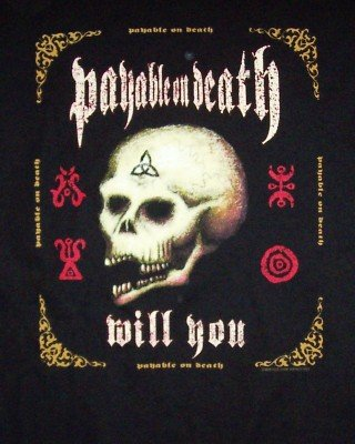 POD T-Shirt Skull Box Black Size XL