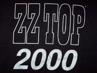 ZZ Top T-Shirt Millenium 2000 Black Size Large
