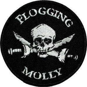 Flogging Molly Iron-On Patch Skull Swords Logo