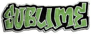 Sublime Iron-On Patch Green Graffiti Logo