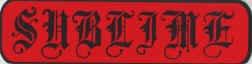 Sublime Vinyl Sticker Tattoo Letters Logo
