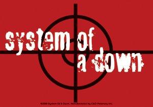 System of a Down Vinyl Sticker Target Logo