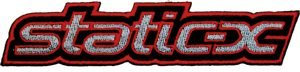 Static-X Iron-On Patch Letters Logo