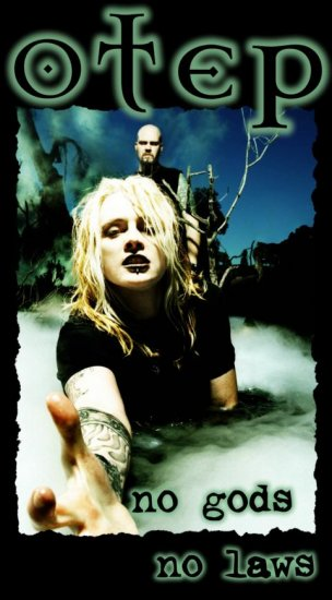 Otep Poster Flag Black No Gods No Laws Tapestry