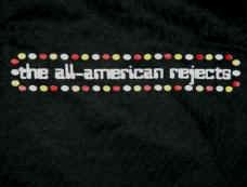 All-American Rejects T-Shirt Dots Logo Black Size Medium