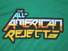 All-American Rejects T-Shirt Letters Logo Green Size Youth Large