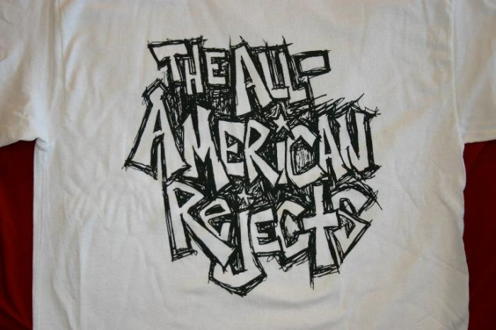 All-American Rejects T-Shirt Scratch Letters Logo Size Small