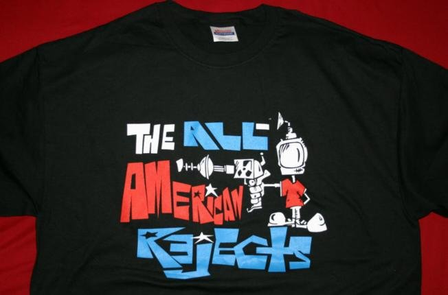 All-American Rejects T-Shirt Space Boy Black Size XL