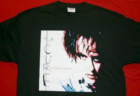 The Cure T-Shirt Blood Flowers Black Size Large