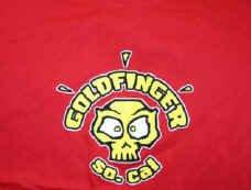 Goldfinger T-Shirt So. Cal Skull Logo Red Size XL