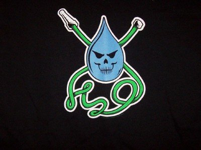 H2O T-Shirt Hose Logo Black Size Medium CLEARANCE