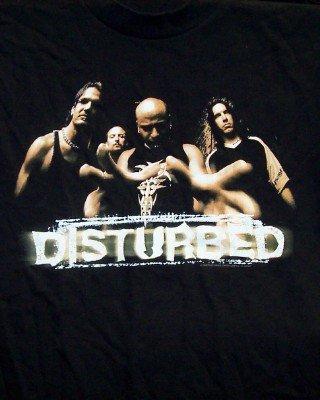 Disturbed T-Shirt Group Photo Black Size Large