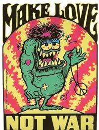 Make Love Not War Vinyl Sticker Stanley Mouse Design