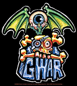 Gwar Vinyl Sticker Eyeball Bat Logo