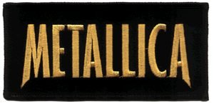 Metallica Iron-On Patch Letters Logo