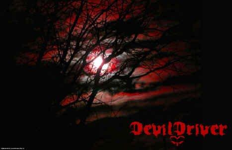 Devil Driver Poster Flag Moon Fire Logo Tapestry