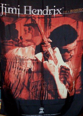 Jimi Hendrix Poster Flag Live at Woodstock Tapestry