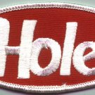 Hole Iron-On Patch Oval Letters Logo