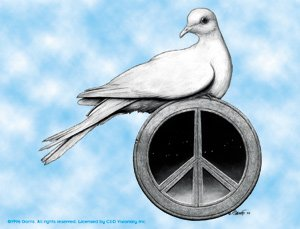 Grateful Dead Vinyl Sticker Peace Dove Phillip Garris