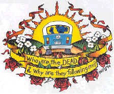 Grateful Dead Window Sticker VW Bus Following Me