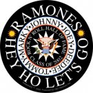 Ramones Vinyl Sticker Hey Ho Let's Go Logo