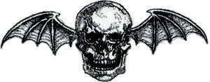 Avenged Sevenfold Iron-On Patch Bat Skull Logo
