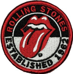 Rolling Stones Iron-On Patch Est 1962 Tongue Logo